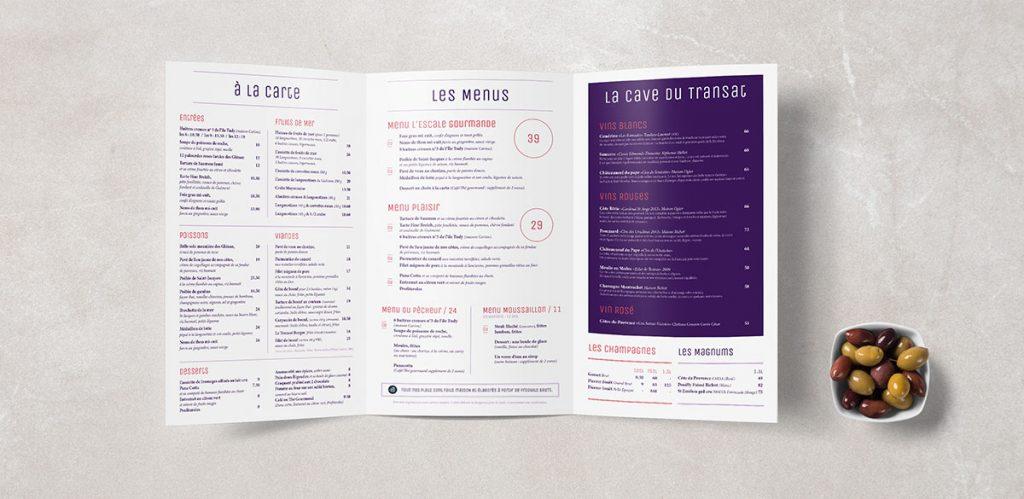 menu restaurant letransat 1